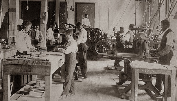 Printing Shop, Tuskegee (ca. 1912, Library of Congress)