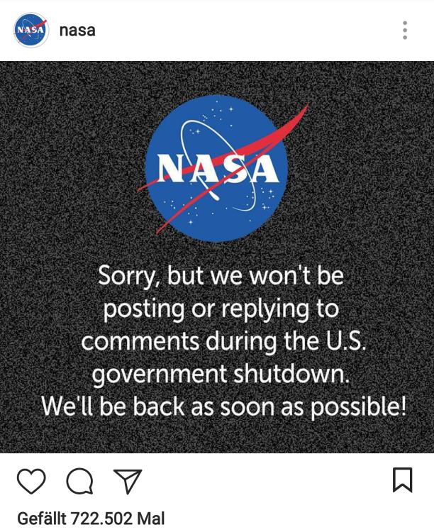 NASA Shutdown 2018
